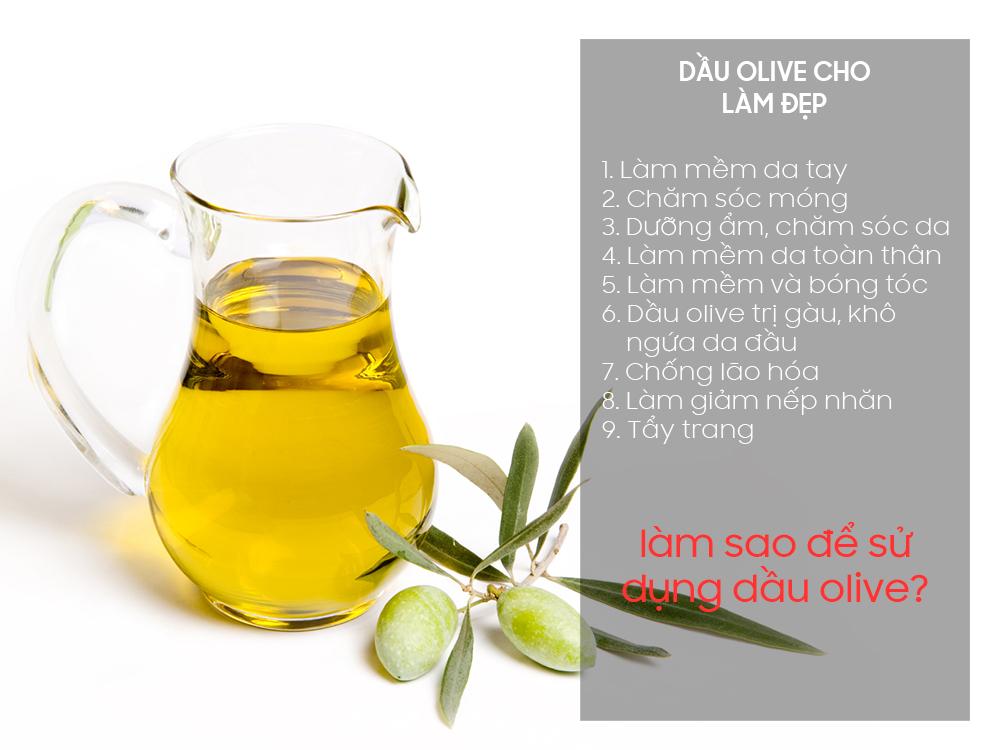 Dầu olive và 9 cách làm đẹp