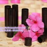 Bao bì đựng mỹ phẩm : ống son đen
