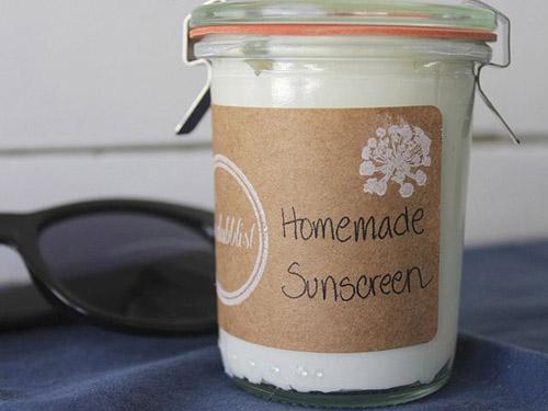 Tự làm kem chống nắng handmade