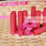Thỏi son nhựa Hồng - Dụng cụ làm mỹ phẩm thỏi son nhựa hồng giá rẻ